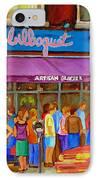 Cafe Bilboquet Ice Cream Delight IPhone Case