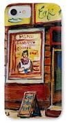 Cafe Bistro St. Viateur IPhone Case