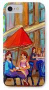 Cafe Casa Grecque Prince Arthur IPhone Case