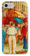 Cafe Crowds IPhone Case