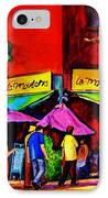 Cafe La Moulerie On Bernard IPhone Case