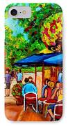 Cafe On Prince Arthur  In Montreal  IPhone Case