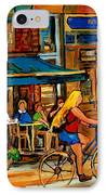 Cafes With Blue Awnings IPhone Case