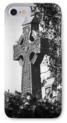Celtic Cross At Fuerty Cemetery Roscommon Ireland IPhone Case