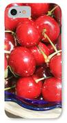 Cherries In A Bowl Close-up IPhone Case