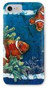 Clowning Around - Clownfish IPhone Case