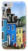Colorful Houses In St. John's IPhone Case