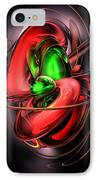 Crimson Affection Abstract IPhone Case