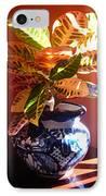 Croton In Talavera Pot IPhone Case