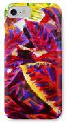 Crotons Sunlit 1 IPhone Case