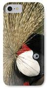 Crown Crane Close Up IPhone Case