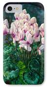 Cyclamen In Orbit IPhone Case