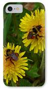 Dandelions And Bees IPhone Case