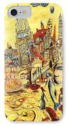 Digital Dreams Of A Young Woman From Buenos Aires In Madrid IPhone Case