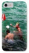 Divers At Sebastian Inlet On The Atlantic Coast Of  Florida IPhone Case