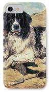 Dogs Watching Bathers IPhone Case