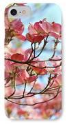 Dogwood Tree Landscape Pink Dogwood Flowers Art IPhone Case