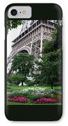 Eiffel Tower Garden IPhone Case