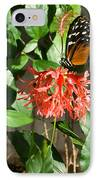 Exotic Butterfly On Flower IPhone Case