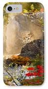 Fall Falls Mist  Dead River Falls  Marquette Mi IPhone Case
