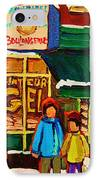 Family  Fun At St. Viateur Bagel IPhone Case