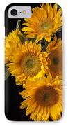 Five Sunflowers IPhone Case
