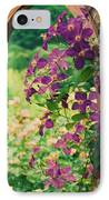 Flowers On Vine  IPhone Case