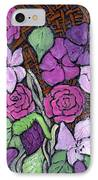 Flowers With Basket Weave IPhone Case