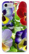 Four Pansies IPhone Case