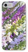 Foxglove Card IPhone Case