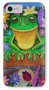 Frog On Mushroom IPhone Case
