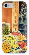 Fruit Shop In San Gimignano IPhone Case