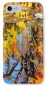 Golden Reflections On Lily Pond IPhone Case