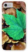 Green Leaf On Fungus IPhone Case