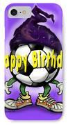 Happy Birthday Soccer Wizard IPhone Case
