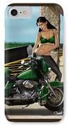 Harley Girl IPhone Case