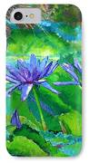 Harmony Of Purple And Green IPhone Case