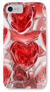 Hearts Afire Abstract IPhone Case