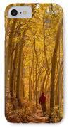 Hiking In Fall Aspens IPhone Case