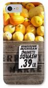 Homegrown Michigan Spaghetti Squash IPhone Case