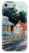 Ile D'orleans Quebec Street Scene IPhone Case