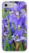 Iris Flowers Artwork Purple Irises 9 Botanical Garden Floral Art Baslee Troutman IPhone Case