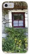 Irish Cottage Window County Clare Ireland IPhone Case