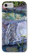 Japanese Fountain With Lily IPhone Case
