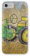 John Deere Tractor And The Scarecrow IPhone Case