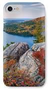 Jordan Pond Sunrise  IPhone Case