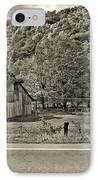 Kindred Barns Sepia IPhone Case