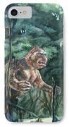 King Kong Vs T-rex IPhone Case
