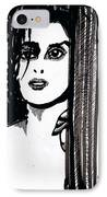 Lady At The Door IPhone Case