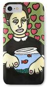 Lady With Fish Bowl IPhone Case
